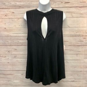 """Free People """"Faye"""" Front Keyhole ribbed tank Top"""